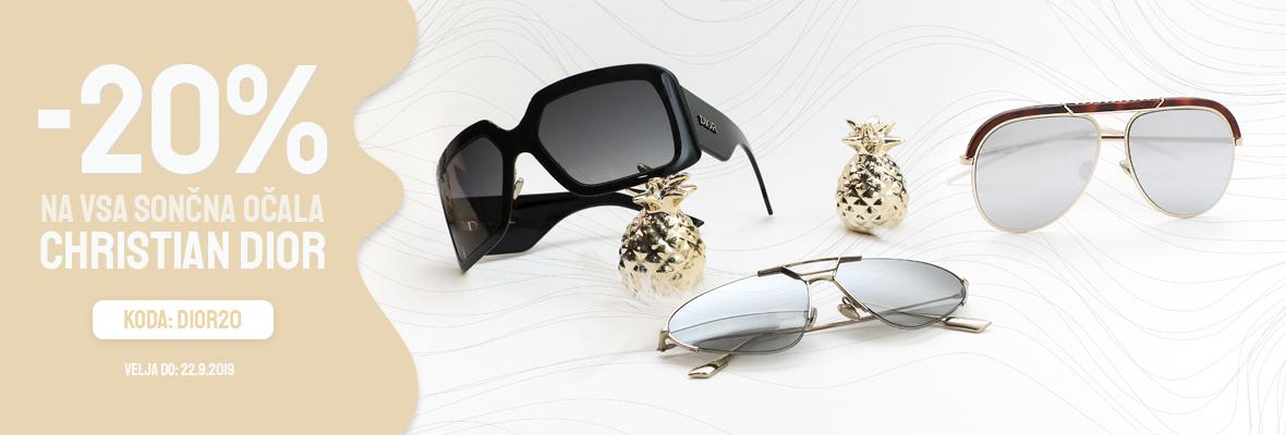 20% na sončna očala Dior