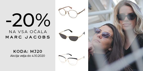 -20% na VSA očala Marc Jacobs